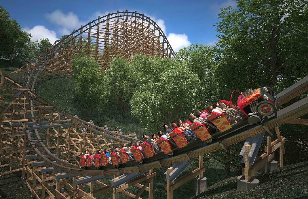 The Fastest Wooden Roller Coaster