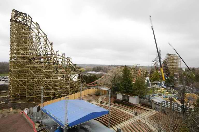 The Steepest Wooden Roller Coaster