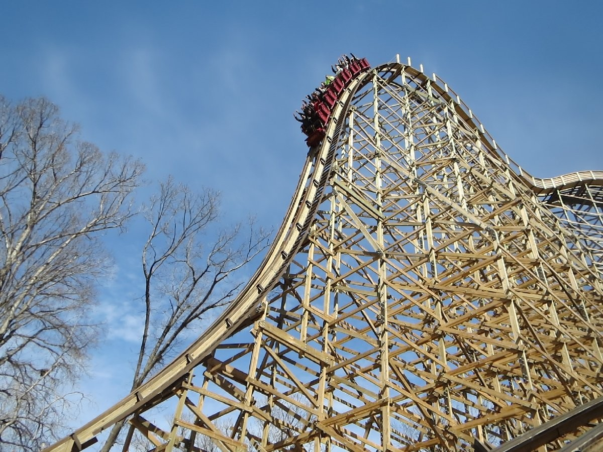 Wooden Roller Coaster With Most Inversions